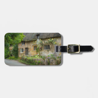 Thatched Roof home Bag Tag