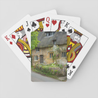 Thatched Roof home Poker Deck