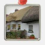 Thatched Roofs in Adare Ireland Metal Ornament