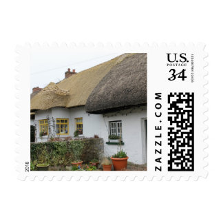 Thatched Roofs in Adare Ireland Postage