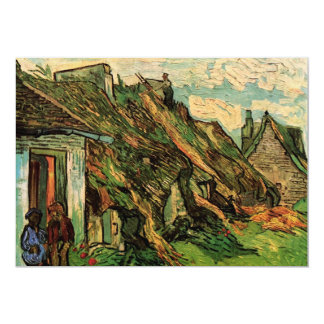 Thatched Sandstone Cottages Chaponval by van Gogh Card
