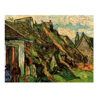 Thatched Sandstone Cottages Chaponval by van Gogh Postcard