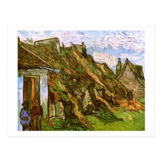 Thatched Sandstone Cottages, Van Gogh Fine Art Postcard
