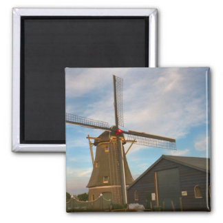Thatched windmill in south Holland 2 Inch Square Magnet