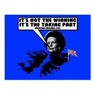 Thatcher divertida Malvinas Postal