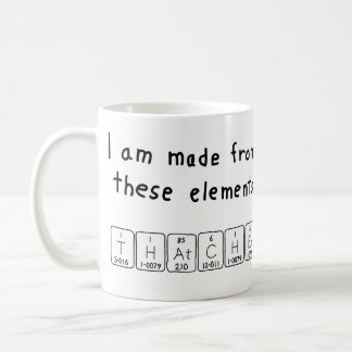 Thatcher periodic table name mug