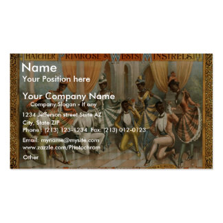 Thatcher Primrose and Wests Minstrels Double-Sided Standard Business Cards (Pack Of 100)