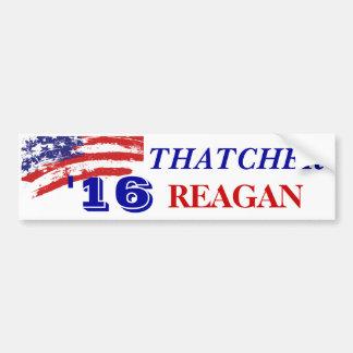 Thatcher Reagan Election 2016 Bumper Sticker