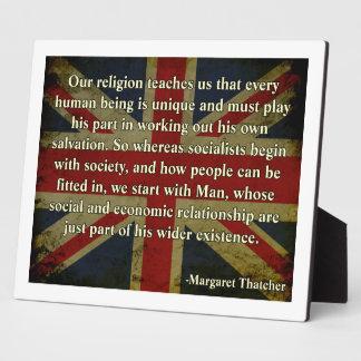 Thatcher Religion Quote Display Plaque