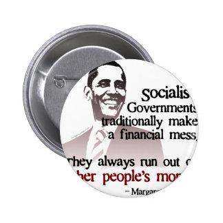 Thatcher socialist quote pinback button