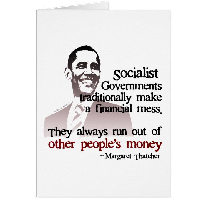 Thatcher socialist quote card