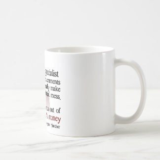 Thatcher socialist quote coffee mug
