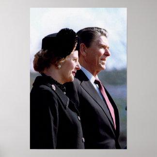 Thatcher y Reagan Póster