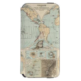 Thatigkeit des Erdinnern Atlas Map iPhone 6/6s Wallet Case