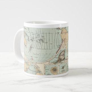 Thatigkeit des Erdinnern Atlas Map Large Coffee Mug