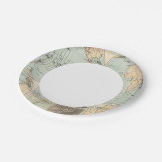 Thatigkeit des Erdinnern Atlas Map Paper Plate