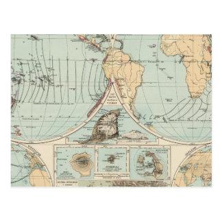 Thatigkeit des Erdinnern Atlas Map Postcard