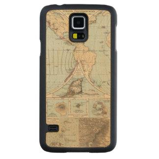 Thatigkeit des Erdinnern Atlas Map Carved® Maple Galaxy S5 Case