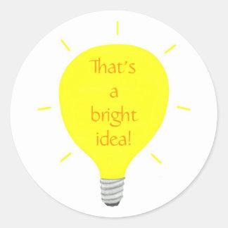 That's a bright idea, Light bulb Affirm stickers
