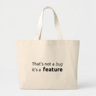 That's a feature jumbo tote bag