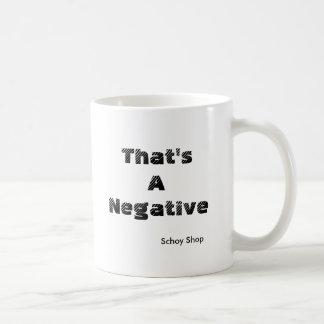 That's a Negative Coffee Mug