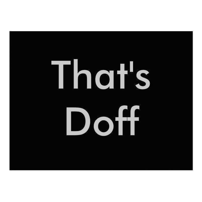 That's Doff Postcard