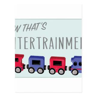 Thats Entertrainment Postcard