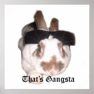 That's Gangsta poster print