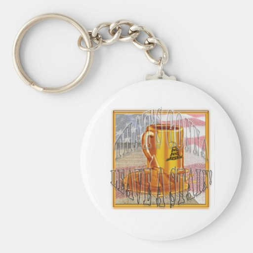 That's gonna leave a stain! keychain