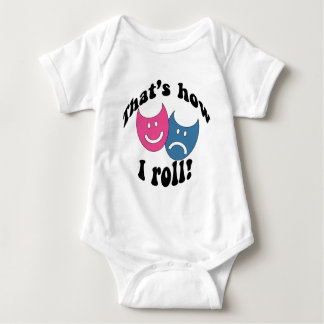 That's How I Roll (black) Baby Bodysuit