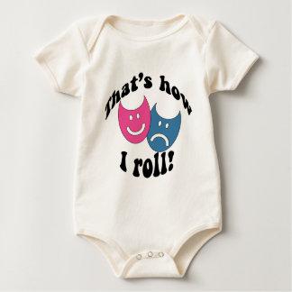 That's How I Roll (black) Baby Bodysuit