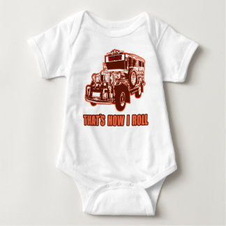 That's How I Roll Jeepney Baby Bodysuit