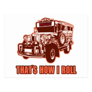 That's How I Roll Jeepney Post Cards