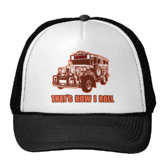That's How I Roll Jeepney Trucker Hats