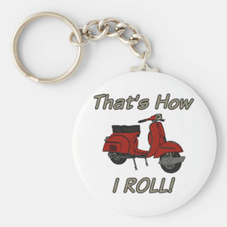 That's How I Roll Moped Keychain