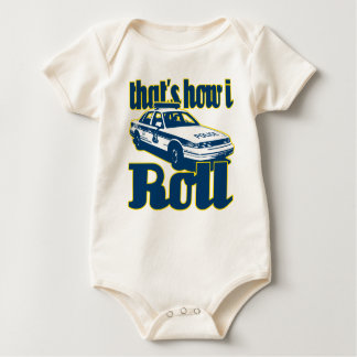 Thats How I Roll Police Baby Bodysuit