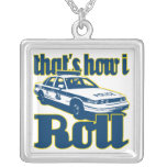 Thats How I Roll Police Square Pendant Necklace