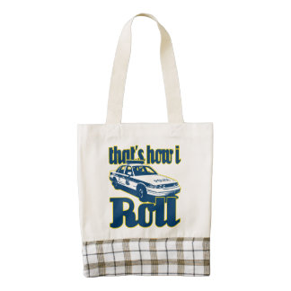 Thats How I Roll Police Zazzle HEART Tote Bag