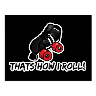 Thats how I roll quadskate edition Postcard
