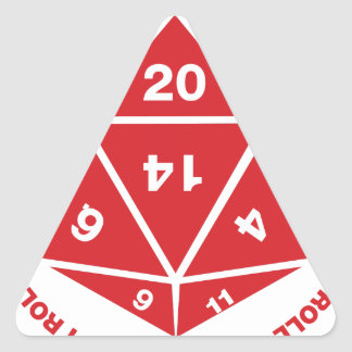 That's How I Roll Triangle Sticker