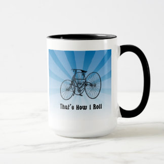That's How I Roll Vintage Bicycle Mug Blue