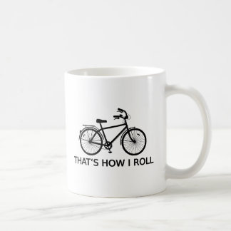 That's how I roll, word art, text design bicycle Coffee Mug