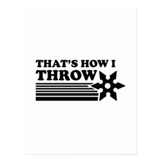 That's How I Throw Postcard