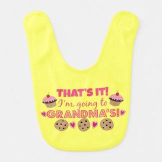 That's it! I'm going to Grandma's! Baby Girl Bib