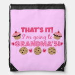That's it! I'm going to Grandma's! Drawstring Bags