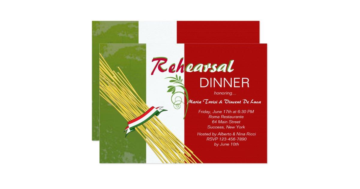 that 39 s italian rehearsal dinner party invitation zazzle