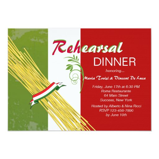 That's Italian Rehearsal Dinner Party Invitation