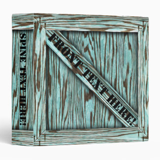That's just Crate! - Aqua Wood - 3 Ring Binder