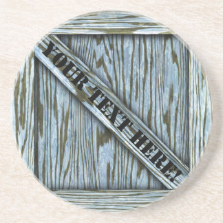 That's just Crate! - Blue Wood - Drink Coaster