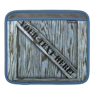 That's just Crate! - Blue Wood - iPad Sleeves